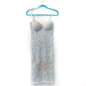 Girl In Mind Crochet Lace Bustier Midi Dress